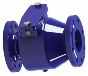 Nepovratni ventil z loputo ‐ prirobnični